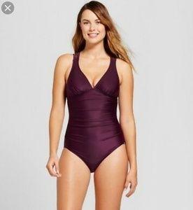 Merona Plum purple strappy back swimsuit XS S M XL